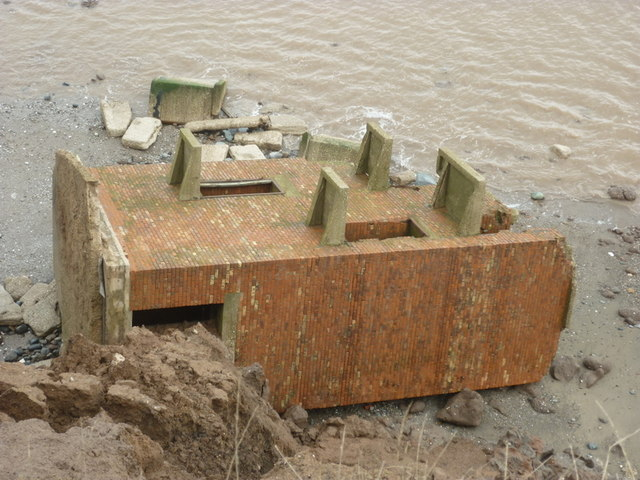 Ringbrough Coastal Battery on the beach