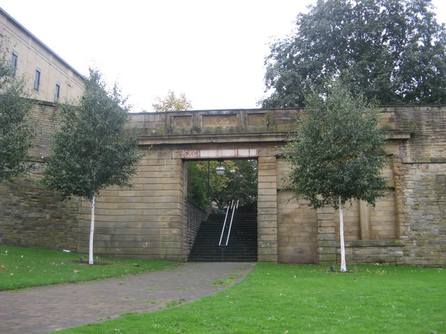 Entrance to former Bradford Exchange Station