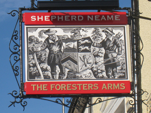 The Foresters Arms sign