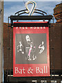 TQ5446 : The Bat and Ball sign by Oast House Archive