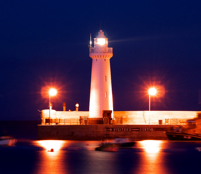 Donaghadee Lighthouse at night
