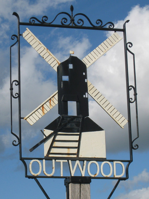 Outwood village sign