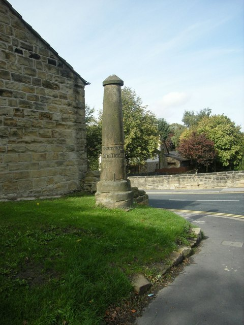 Guide Post at Bell Lane Junction, Ackworth Moor Top