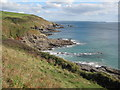 SW5628 : Pestreath Cove and Hoe Point by Philip Halling
