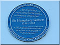 Photo of Humphrey Gilbert blue plaque