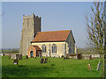 TM2658 : Letheringham St Mary�s church by Adrian S Pye