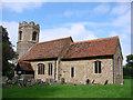 TL6852 : Little Bradley All Saints church by Adrian S Pye