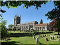TL8646 : Long Melford Holy Trinity church by Adrian S Pye