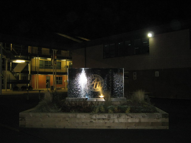 Arthur Terry School, by night