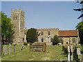 TM1065 : Mendlesham St Mary�s church by Adrian S Pye