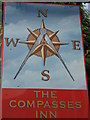 TR0949 : The Compasses Inn, Pub Sign, Sole Street by David Anstiss