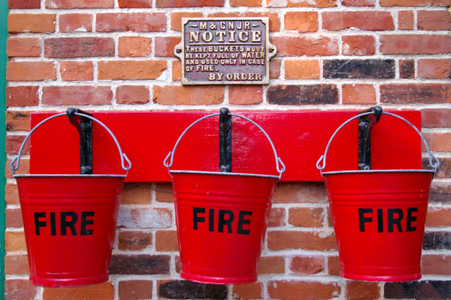 Fire Buckets, Holt Station, Norfolk