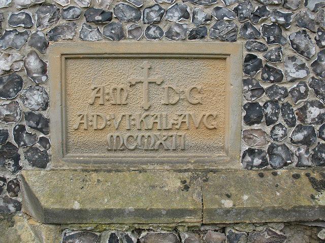 Dedication stone of St John's church