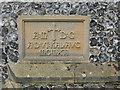 TQ3951 : Dedication stone of St John's church by Stephen Craven
