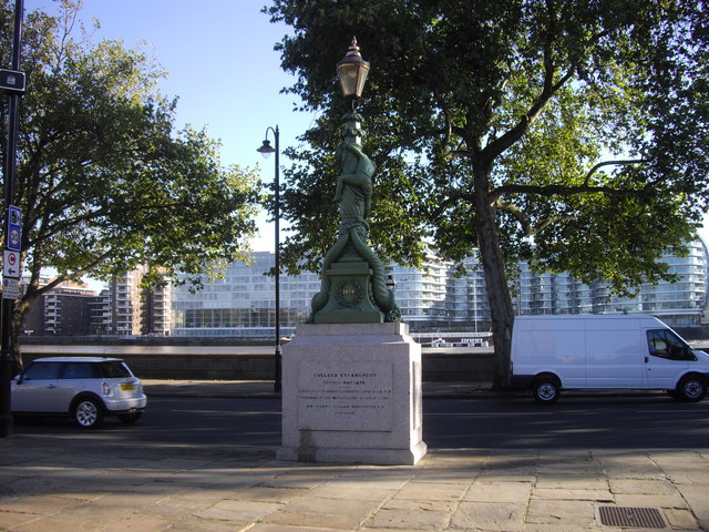 Ornamental lamp-post on Chelsea Embankment