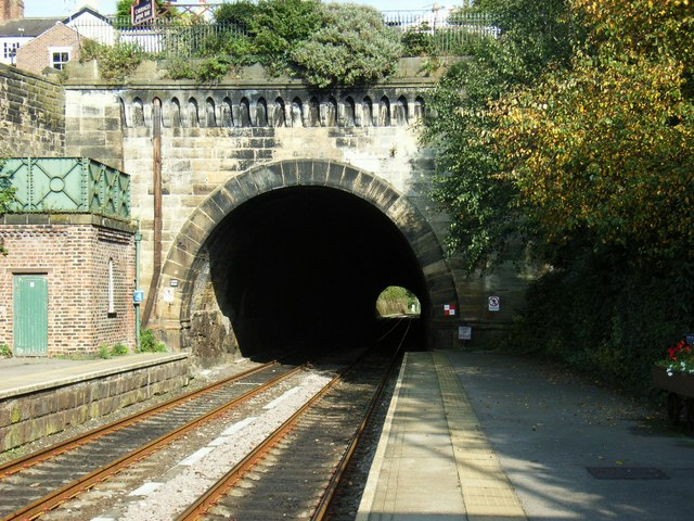 South Tunnel Portal at Knaresborough Railway Station