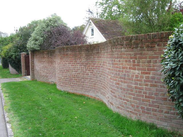 Serpentine Wall, All Saints Road, Lymington