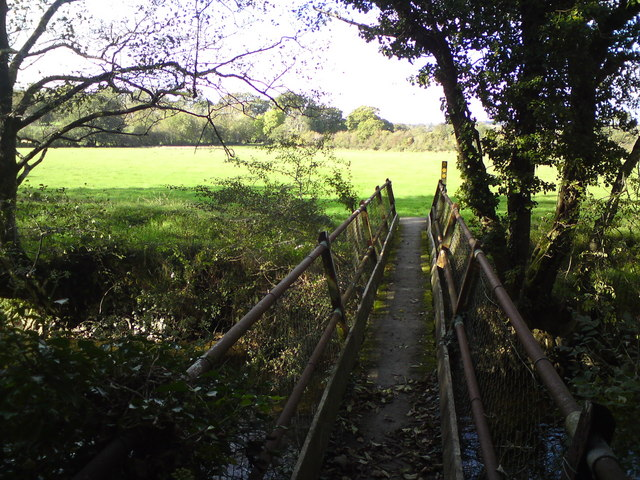 Footpath bridge at Llanfallteg