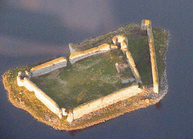 Lochindorb Castle from the Air