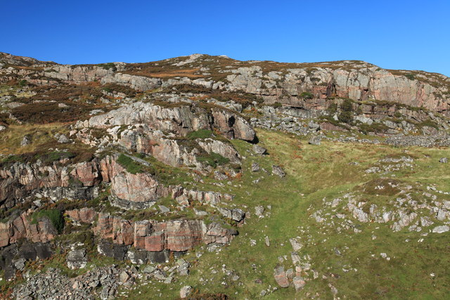 Rocky outcrop on Eilean Tigh