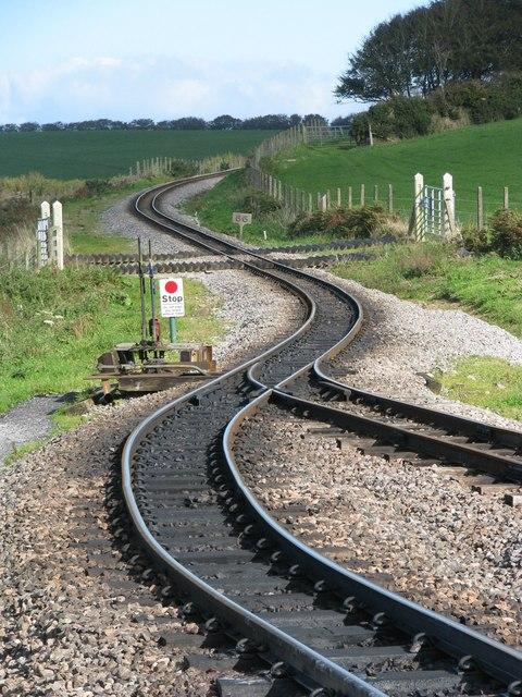 Points at Killington Lane on the Lynton and Barnstaple railway