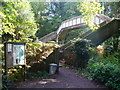 Dist:0.5km<br/>Concrete footbridge south-west of Oxshott Station. It leads from Sheath Lane onto Oxshott Heath.