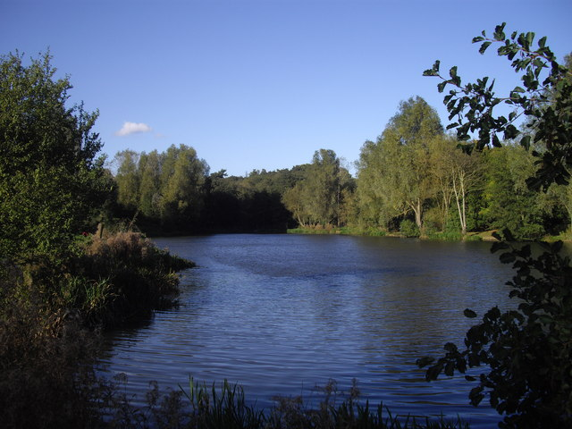 Lake in Highwoods Country Park Colchester