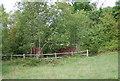 TQ5942 : Ruined Oast house, Barnett's Wood Nature Reserve by N Chadwick
