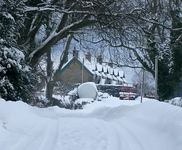 Winter at Twizell farm cottages