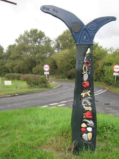 National Cycle Network Milepost near Botolph's Bridge
