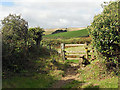 SW9138 : A stile on the South West Coastal Path by Row17