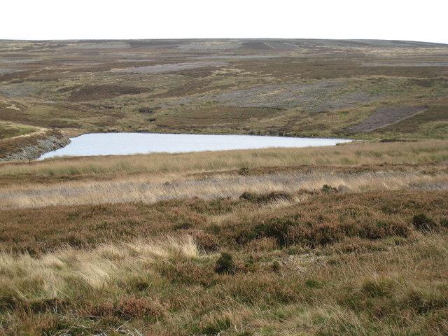 Moorland terrain near Burnhead Dam
