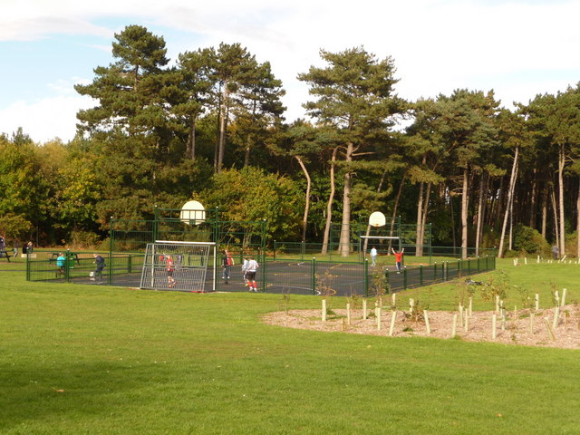 Redhill Hard Football Pitch In Park