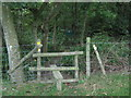 TR0635 : Stile into Stockshill and Blackthorn Nature Reserve by David Anstiss