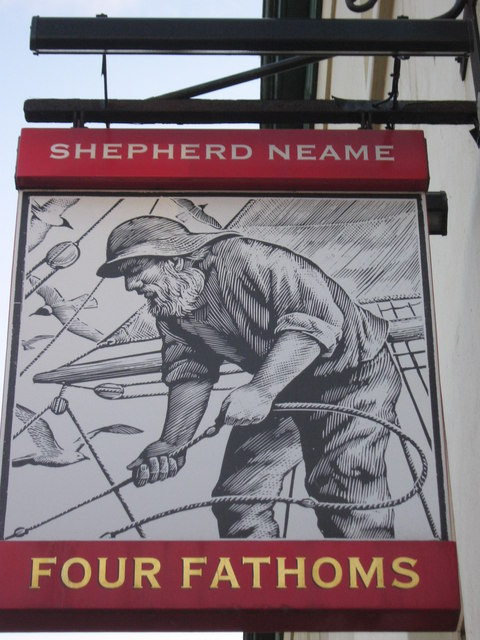 Four Fathoms, Pub Sign, Herne Bay