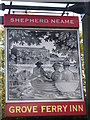 TR2363 : Grove Ferry Inn, Pub Sign, Upstreet by David Anstiss