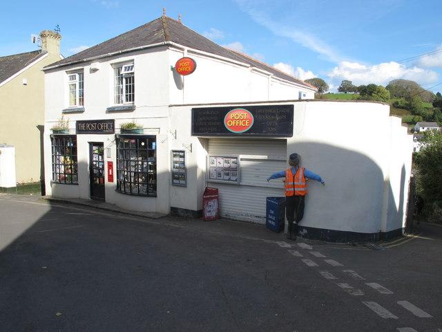 Stoke Gabriel Post Office With Postman David Hawgood