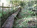 TQ4028 : Causeway for footpath connecting Danehill to Chelwood Common by Dave Spicer