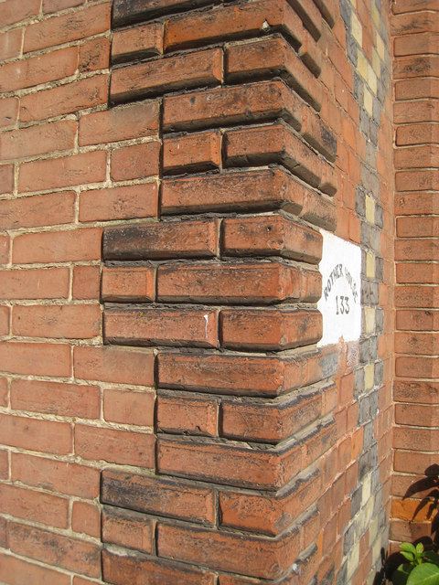 Brick Quoin detail, Rother House