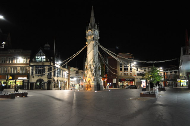 Leicester Clock Tower At Night 169 Ashley Dace Cc By Sa 2 0