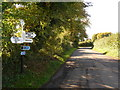 ST7926 : Gillingham: signpost at Slaughtergate by Chris Downer