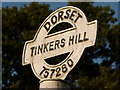 ST7528 : Bourton: detail of Tinkers Hill signpost by Chris Downer