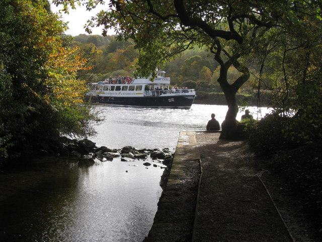 Longmarsh Leat entering the River Dart