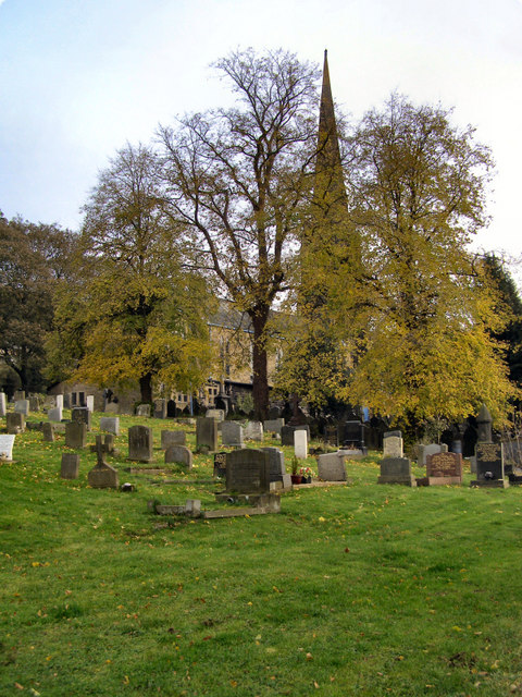 Graveyard and St Peter's Church, Walsden