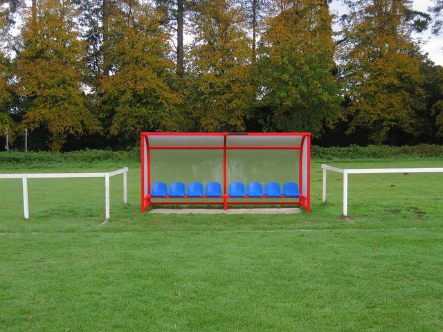 Subs Bench Slindon Sports Ground 169 Simon Carey