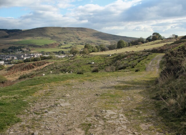 Possibly reclassified track running between the Afan and Llynfi Valleys