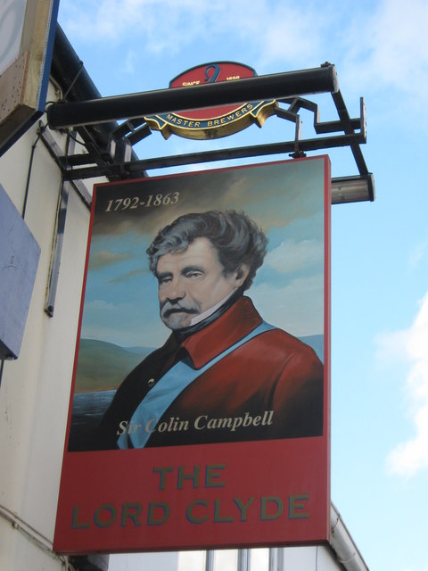 The Lord Clyde, Pub Sign, Deal