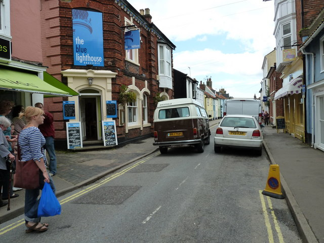 VW camper van in East Street