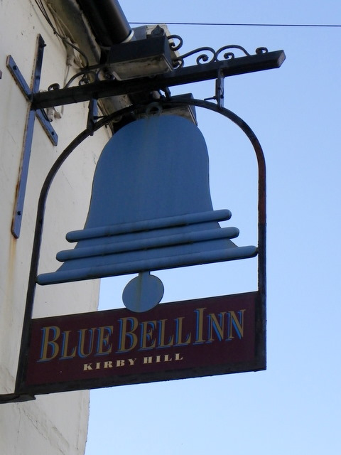 Sign for the Blue Bell Inn