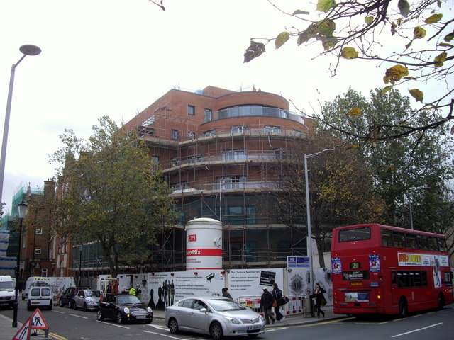The Chelsea Apartments under construction in Fulham Road